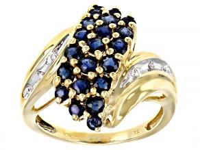 Sapphire 10k Yellow Gold Ring  1.31ctw