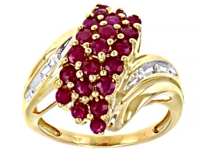 Ruby 10k Yellow Gold Ring 1.77ctw