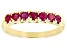 Ruby 10k Yellow Gold Band Ring 1.02ctw
