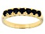 Blue Sapphire 10k Yellow Gold Band Ring 1.02ctw