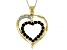 Blue Sapphire 10k Yellow Gold Heart Pendant with Chain 0.63ctw