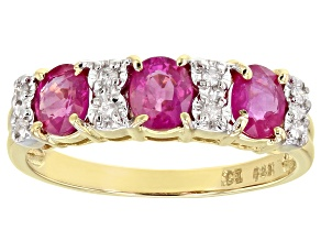 Red Ruby 14k Yellow Gold Ring 1.11ctw
