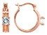 Sky Blue Topaz 18k Rose Gold Over Sterling Silver Hoop Earrings 1.16ctw