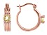 Yellow Citrine 18k Rose Gold Over Sterling Silver Hoop Earrings 0.98ctw