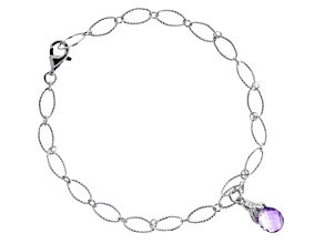 Amethyst Rhodium Over Sterling Silver Bracelet 1.65ctw