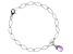 Amethyst Rhodium Over Sterling Silver Bracelet 1.65ctw