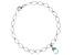 Sky Blue Topaz Rhodium Over Silver Bracelet 3.00ctw