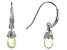 Lemon Quartz Rhodium Over Silver Earrings 0.30ctw