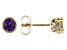 Purple African Amethyst 10k Yellow Gold Stud Earrings 0.90ctw