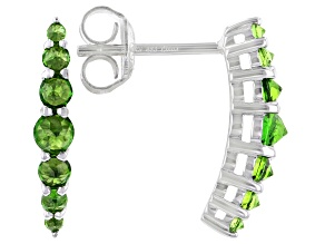 Chrome Diopside Rhodium Over Sterling Silver Earrings 0.64ctw