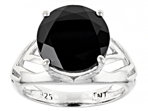 Black Spinel Rhodium Over Sterling Silver Ring 5.75ctw