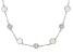 Rainbow Moonstone Rhodium Over Silver Necklace 12.00ctw