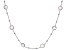 Rose Quartz Rhodium Over Silver Necklace 16ctw