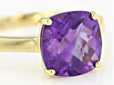 Purple African Amethyst 18k Yellow Gold Over Sterling Silver Ring 3.00ct