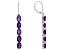 African Amethyst Rhodium Over Sterling Silver Earrings 7.00ctw