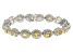 Citrine Rhodium Over Silver Bracelet 14.16ctw