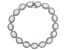 Lab Created Opal Rhodium Over Silver Bracelet 7.66ctw
