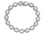 Lab Created White Sapphire Rhodium Over Sterling Silver Bracelet 18.33ctw