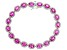 Lab Created Pink Sapphire Rhodium Over Sterling Silver Bracelet 16.66ctw