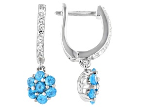 Neon Apatite Rhodium Over Sterling Silver Earrings