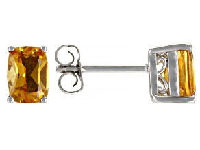 Yellow Citrine Rhodium Over Sterling Silver Earrings 1.80ctw