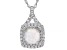 White Lab Created Opal Rhodium Over Sterling Silver Pendant With Chain 1.14ctw