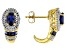 Blue Lab Created Sapphire 14k Yellow Gold Over Sterling Silver Earrings 1.33ctw