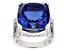 Tanzanite Color Quartz Doublet Rhodium Over Sterling Silver Ring 10.75ctw