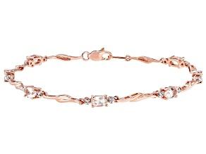 Pink Morganite 10K Rose Gold Bracelet 1.68ctw
