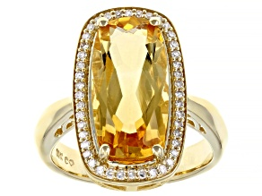 Citrine 10K Yellow Gold Ring 5.70ctw