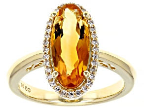 Citrine 10k Yellow Gold Ring 3.6ctw