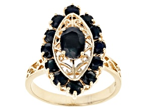 Blue Sapphire 10k Yellow Gold Ring 3.30ctw