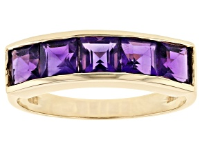 Purple Amethyst 10k Yellow Gold Ring 1.80ctw