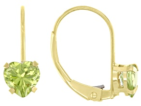 Peridot 10k Yellow Gold Earrings 0.90ctw