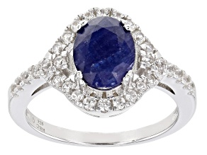 Mahaleo® Blue Sapphire Rhodium Over Sterling Silver Ring 2.70ctw