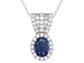Mahaleo® Blue Sapphire Rhodium Over Sterling Silver Pendant with Chain 2.75ctw