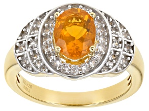 Fire Opal 14k Gold Over Silver Ring 1.10ctw