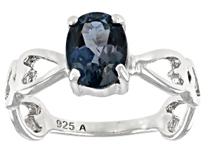 London Blue Topaz Rhodium Over Sterling Silver Solitaire Ring 1.50ctw
