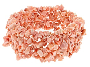 Peach Opal Stretch Bracelet Approximately 100ctw