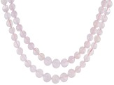 Pink morganite sterling silver necklace