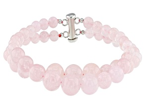 Pink morganite sterling silver bracelet