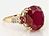 Mahaleo Ruby And Diamond Accent 14k Yellow Gold Ring 9.75ctw