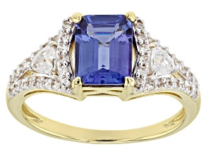 Blue Tanzanite 10k Yellow Gold Ring 1.81ctw
