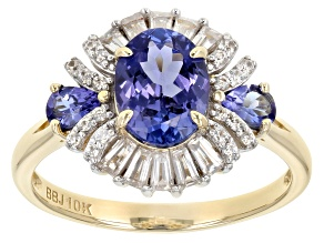 Blue Tanzanite 10k Yellow Gold Ring 1.79ctw