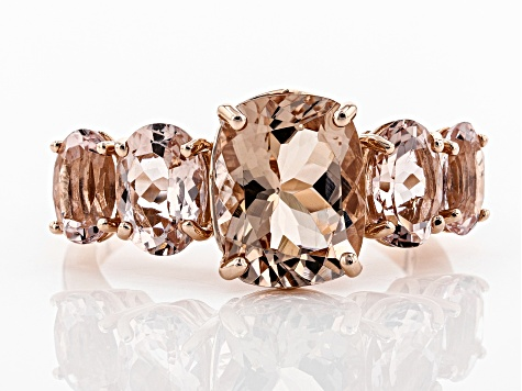Pink Cor-de-Rosa Morganite™ 10k Rose Gold Ring 4.69ctw