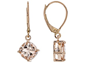 Pink Cor-de-Rosa Morganite™ 10k Rose Gold Earrings 2.29ctw