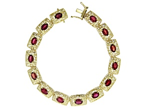 Red Mahaleo® Ruby 10k Gold Bracelet 8.83ctw