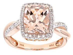 Pink Morganite 10k Rose Gold Ring 2.65ctw