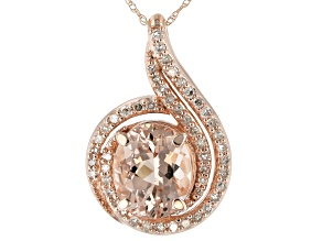 Pink Cor-De-Rosa Morganite™ 10k Rose Gold Pendant With Chain 2.82ctw
