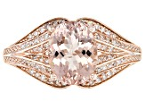 Pink Cor-De-Rosa Morganite™ 10k Rose Gold Ring 1.60ctw